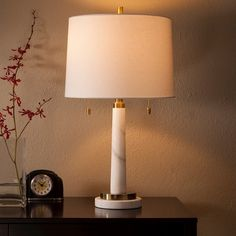 Franklin Table Lamp Marble   Threshold™