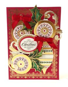 Card from the Anna Griffin Holiday Traditions Card Making Kit