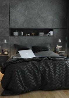 gris anthracite pour la chambre a coucher chic