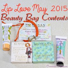 Review of the May 2015 Lip Love beauty bag from So Susan Cosmetics, a UK based makeup subscription that ships worldwide.