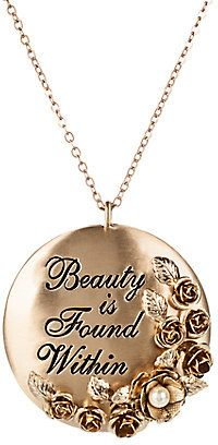 b0e4792db Beauty and the Beast Necklace with Pendant by Danielle Nicole - Live Action  Film