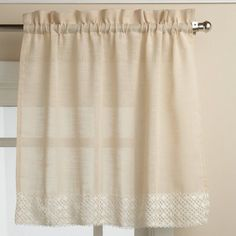 Sweet Home Collection Salem Kitchen Tier Curtain Size: L x W, Color: French Vanilla Tier Curtains, Lace Curtains, Cream Curtains, Window Curtains, Drapery, Curtain Styles, Curtain Designs, Curtain Ideas, Curtain Inspiration