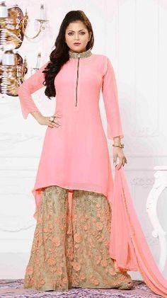 Buy Latest Salwar Kameez Online in India at Variation. Huge Collection of Designer Salwar Kameez, Bridal Salwar Kameez Designs and Indian Salwar Suits. Sharara Designs, Lehenga Designs, Kurta Designs Women, Latest Kurti Designs, Stylish Dress Designs, Designs For Dresses, Stylish Dresses, Indian Fashion Dresses, Indian Designer Outfits