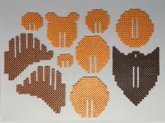 Bear Head 3D Perler Bead Puzzle Wall Decor от Pixelixir