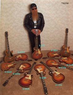 Reverend Billy Gibbons in Les Paul heaven Guitar Art, Music Guitar, Cool Guitar, Playing Guitar, Guitar Pics, Guitar Notes, Guitar Room, 70s Music, Indie Music