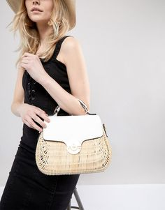Dune Structured Cross Body Bag in Straw