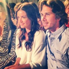:) :: Spotted at the Mark Zunino for Kleinfeld show: Ben the Bachelor and Courtney Robertson