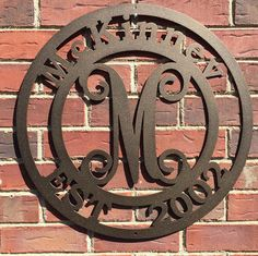 Looking for a high quality gift, long last gift? Family Established Signs, Last Name Established Sign, Anniversary Gifts, Personalized Gift, Home Décor, Wedding Established Sign, Metal Sign, Front Door Wreath, Monogram Door Hanger  Our Metal Established Last Name Monogrammed Wreath looks great outdoors and inside!! Handmade from high quality 16 gauge steel, each wreath is lovingly designed and crafted with you in mind!! ▬▬▬▬▬▬▬ DIMENSIONS ▬▬▬▬▬▬▬  • 23.5 x 23.5 ▬▬▬▬▬▬▬ PERSONALIZATION…
