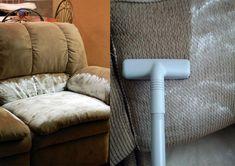 Limpieza de un sofá con bicarbonato de sodio