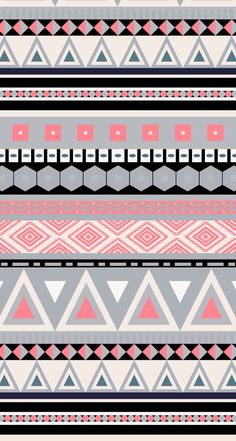 Cute pink & gray tribal wallpaper