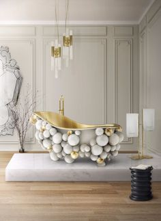 This impressive freestanding white bathtub turn any bathroom on a piece of dream for any person.