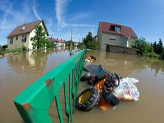 Flooded streets can be seen in Dresdens Gohlis district, eastern Germany on June 5, 2013. Cities in Germany and the Czech Republic were scrambling to stave off potential disaster as a flood wave headed north, sending thousands of people fleeing their homes.