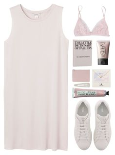 """monochromatic"" by amazing-abby ❤ liked on Polyvore featuring La Perla, Monki, Fendi, NARS Cosmetics, Dogeared, Alexander McQueen and Forever 21"