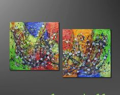Kunstgalerie-Winkler-Abstrakte-Acrylbilder-Unikat-Malerei-Leinwand-Bilder-Neu