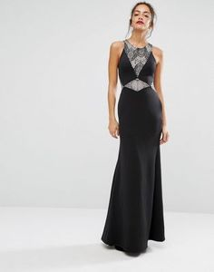 New Look Lace Insert Maxi Dress