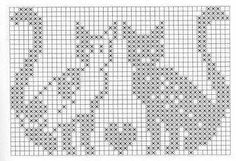 Not in English but you have the grids. Filet Crochet Charts, Knitting Charts, Cross Stitch Charts, Knitting Stitches, Cross Stitch Designs, Cross Stitch Patterns, Chat Crochet, Crochet Cross, Crochet Yarn