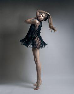 Origami folding black dress by Jule Waibel