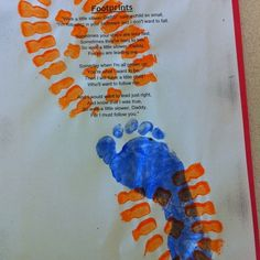 easy Father's day Crafts~ Oh I'm doing this for mother's day too! This would even be cute with all the family footprints~