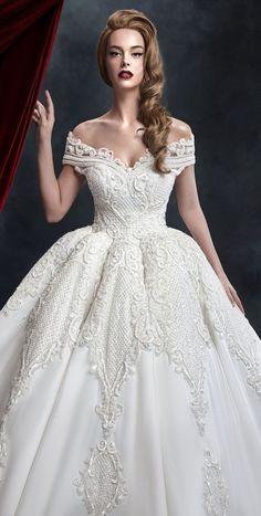 9f64df133df Off the shoulder full embellishment full ball gown wedding dress - Dar Sara  wedd... -  Ball  Dar  dress  embellishment  full  gown  Sara  Shoulder   wedd   ...