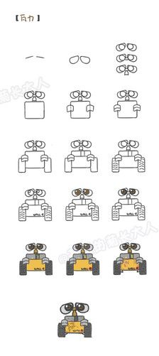 How to draw Wall-E from Wall-E