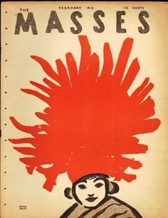 The Masses, February 1916. Cover art by Frank Walts