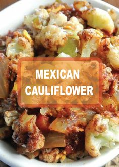 Cheesy spinach bake with crumb topping recipe super easy this mexican cauliflower recipe it the perfect side dish for any meal that needs a little forumfinder Images