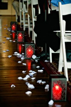 Wedding Aisle With Lanterns #rockmywinterwedding @Derek Imai Smith My Wedding