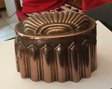 ANTIQUE VICTORIAN COPPER JELLY PUDDING MOULD MOLD CM 152 GOTHIC SKIRT