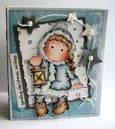 Nixe07 - Moni´s creative place: Sending Christmas Wishes ... Kleine Buchbox / Stempeleinmaleins