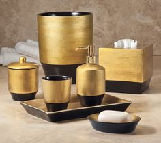 1000 images about gorgeous gold bath accessories on for Brushed gold bathroom accessories