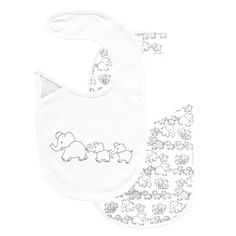 Reversible Elephant Bib, Baby Sleepsuits and Bodies, Baby Clothes