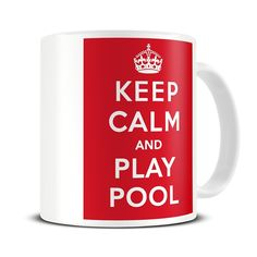 MG241 Magoo Keep Calm and Play Pool COFFEE MUG - gift for pool player: Amazon.co.uk: Kitchen & Home