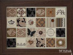 'Mocha Morning' Framed Art handmade by Sue Wdowik - Independent Stampin' Up! Demonstrator. www.nighnighbirdie.blogspot.com