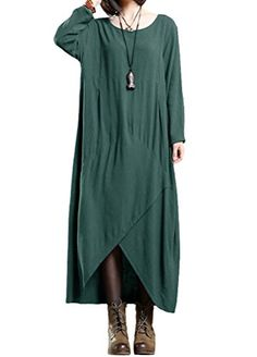 Minibee Women's Cotton Linen Loose Style Long Sleeve Dres... https://www.amazon.com/dp/B01N9HEFOQ/ref=cm_sw_r_pi_dp_x_l4RMyb477FSGM