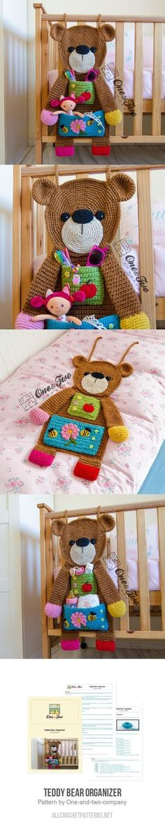Teddy Bear Organizer crochet pattern