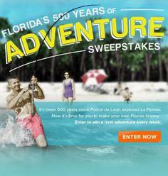 Florida's 500 Years of Adventure Sweepstakes
