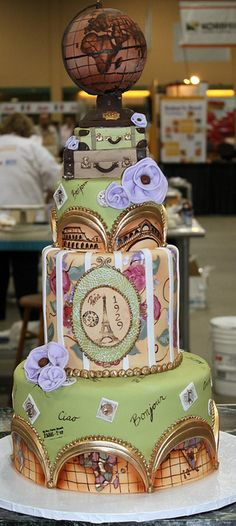#KatieSheaDesign ♡❤ ❥ World #travel cake.