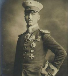 Prince Oskar of Prussia (Oskar Karl Gustav Adolf) (1888-1958) was the fifth son of Wilhelm II, German Emperor & Augusta Viktoria of Schleswig-Holstein. Prinz Oskar was married 1914 to Countess Ina-Marie Helene Adele Elise von Bassewitz (1888-1973). Both the civil & religious ceremonies took place near Berlin, Prussia. Initially the union was considered morganatic, but in 1919 was decreed to be dynastic in accordance with the house laws of the Royal House of Hohenzollern.