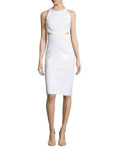 cushnie-et-ochs-white-sleeveless-cutout-sheath