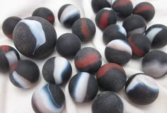 25 PIRATE Glass Marbles