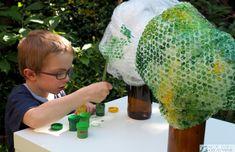 Drzewko z recyklingu proste DIY dla dzieci - Moje Dzieci Kreatywnie