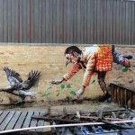 "Fintan Magee ""Missing Keys"" New Street Art – Brisbane, Australia"