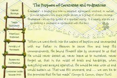 The purpose of covenants & ordinances
