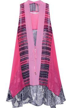 Diane von Furstenberg Multicolored silk-chiffon vest