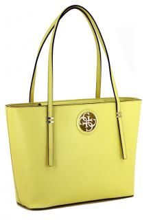 Shopper zweigeteilt Guess Open Road Tote Yellow gelb Emblem