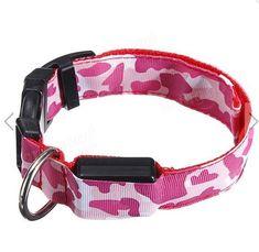 Night Safety Dog Collar Waterproof LED Pet Flashing Collar #SPET