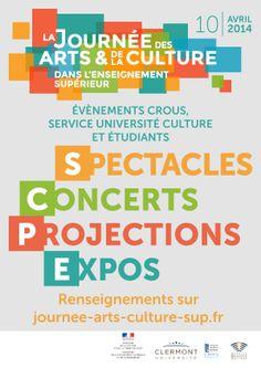 © CROUS Clermont-Ferrand Journée des arts et de la culture dans l'enseignement supérieur http://www.journee-arts-culture-sup.fr