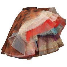"Vivienne Westwood 'EXPLOSION"" tulle skirt, c. Harajuku Girls, Brown Skirts, Skirts For Sale, Layered Skirt, Mori Girl, Japanese Fashion, Printed Skirts, Skirt Outfits, Tulle Skirts"