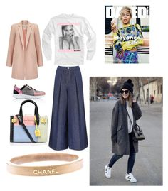 """""""street style #nyfw"""" by joy-criner on Polyvore featuring Miss Selfridge, Victoria, Victoria Beckham, Karl Lagerfeld, Kurt Geiger, Chanel, women's clothing, women, female, woman and misses"""