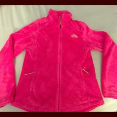 Northface zip up Hot pink, plush, only worn handful of times. Price firm The North Face Other
